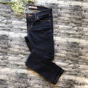 J Brand Ink Dark Rinse Low-rise Skinny Jeans 26